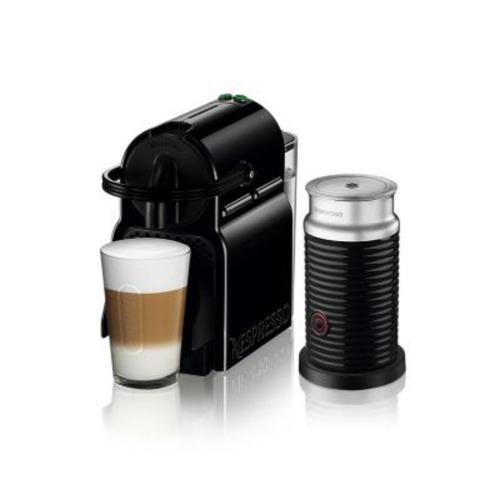 combo máquina de café inissia + espumador de leche aerocci..