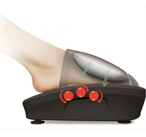 combo masajeador homedics espalda + pie con aire