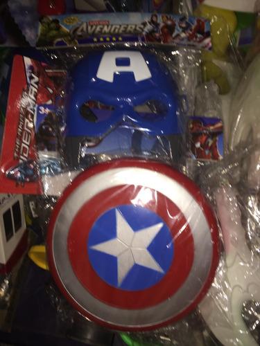 combo mascara + escudo capitán america vengadores spiderman