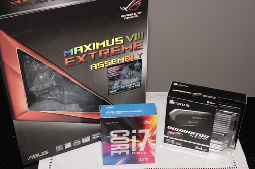 combo maximus viii extreme assembly + i7 6700k + 64gb ddr4