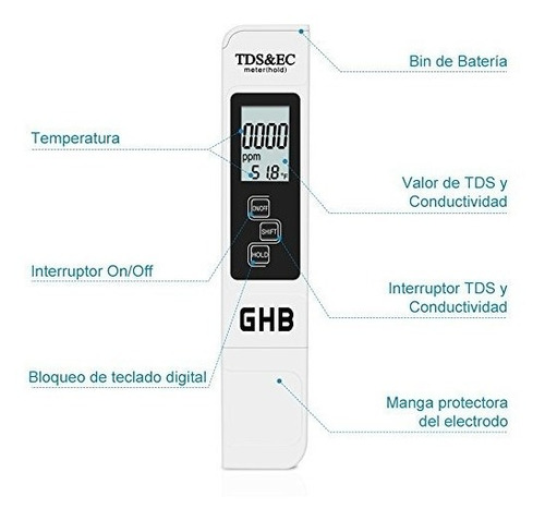 combo medidor de ph digital + ec / tds temp conductividad !!
