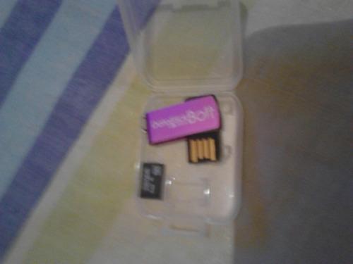combo memoria 4 gb sandisk microcd y pendrive de dos gb