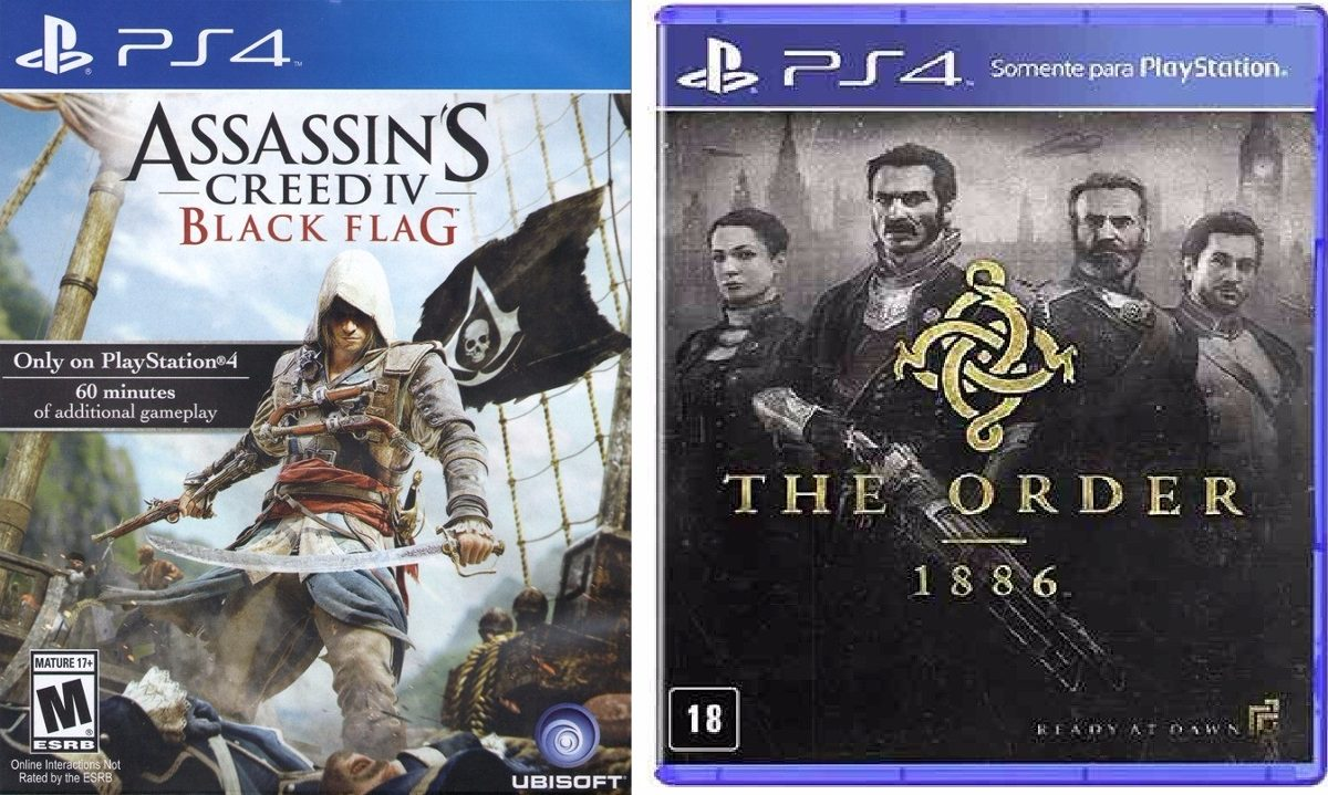 Combo Mid Fisico The Order Assassins Creed Black Flag Ps4 R