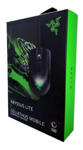combo mouse gamer razer abyssus + pad goliathus mobile full
