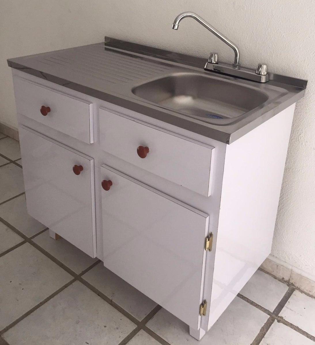 Combo mueble fregadero lavaplatos con griferia y herraje for Modulos para cocina baratos