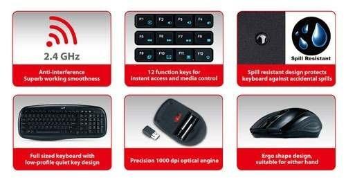 combo multimedia wireless genius kb-8000x nano usb