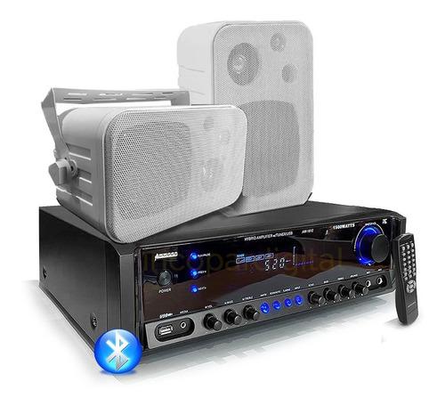combo música funcional consola aw1612 bluetooth usb+2 bafles