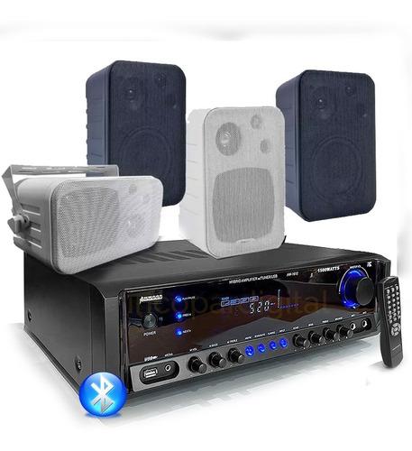 combo música funcional consola aw1612 bluetooth usb+4 bafles