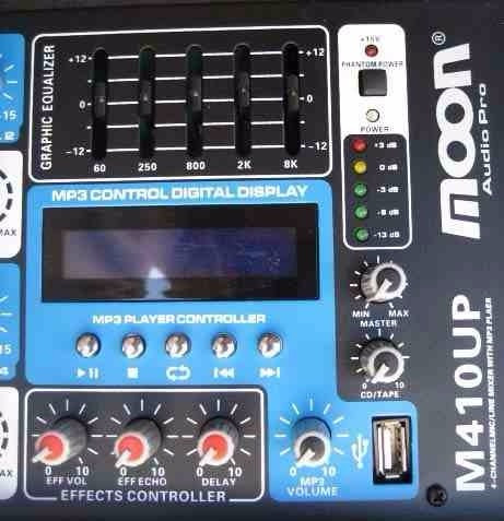 combo musica funcional local m410up + 8 bafles negros esdj