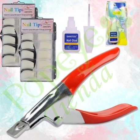 combo n40 kit construccion uñas acrilicas primer tips lima