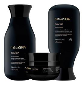 Combo Nativa Spa Caviar Cabelos Com Máscara Capilar