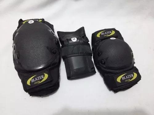 combo negro protecciones uso rudo + casco uso rudo + envió