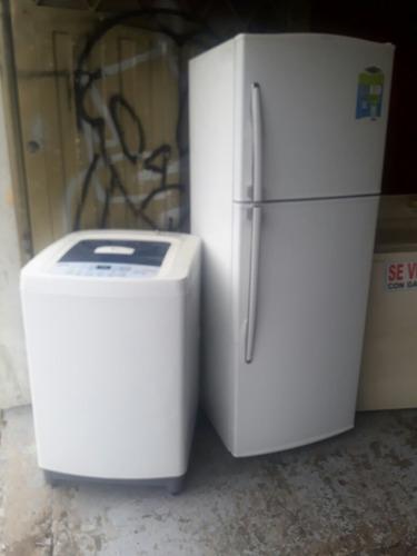 combo nevera  haceb  320 litros  y lavadora   lg  27 libras