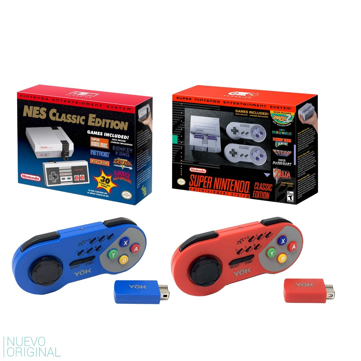 Combo Nintendo Nes Classic + Snes Classic + 2 Controles Yok