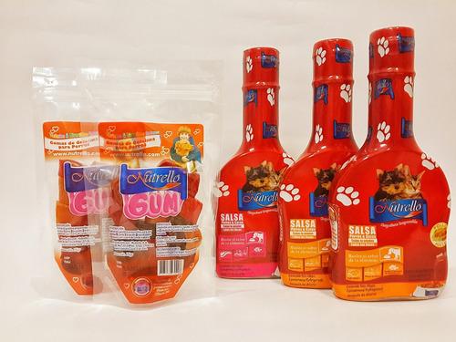 combo nutrello salsa + gratis gomas para perros