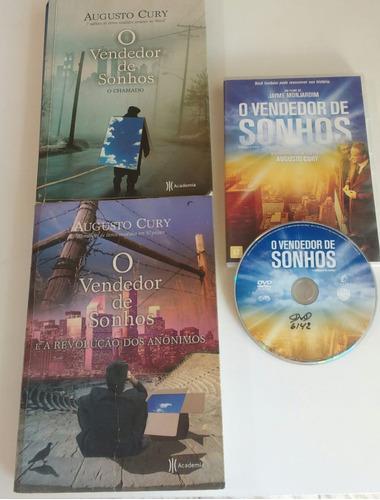 combo - o vendendor de sonhos 1 e 2 ( livros + dvd original)