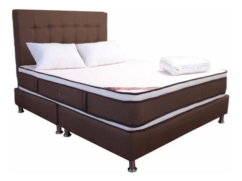 combo onix  doble colchón + basecama + obsequio 140x190