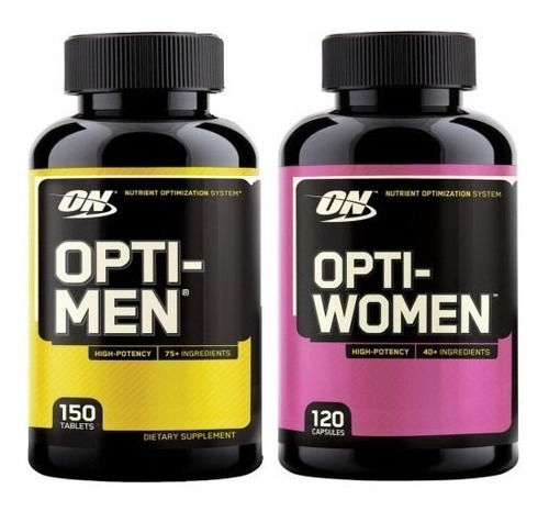 combo opti-men 150 cap + opti-women 120 cap multivitaminico