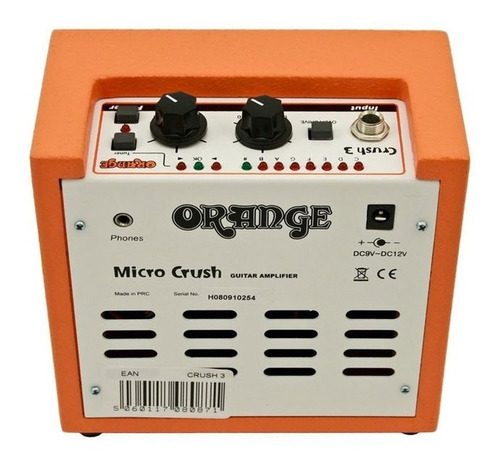 combo orange micro crush portátil cr3 3 watts