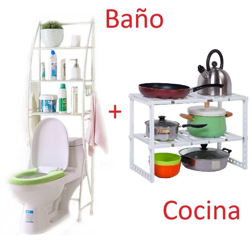 Organizadores De Baño | Combo Organizadores Para Bano Y Cocina Regulables Adaptables