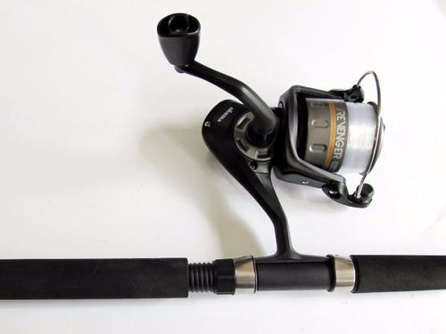 combo p pescar caña  shimano y carrete okuma +50 accesorios