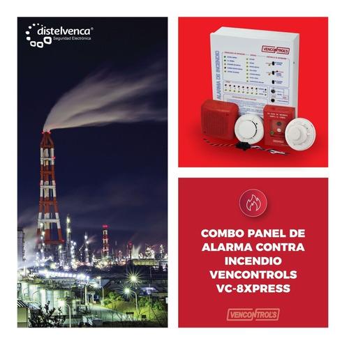 combo panel de alarma contra incendio vencontrols vc-8xpress