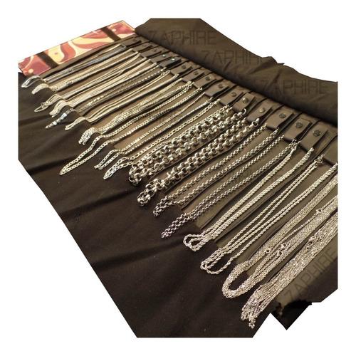 combo paño con 40 cadenas acero quirurgico revendedores por mayor