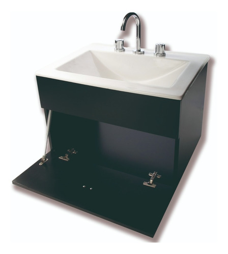 combo para baño basico vanitory 60cm espejo inodoro pringles