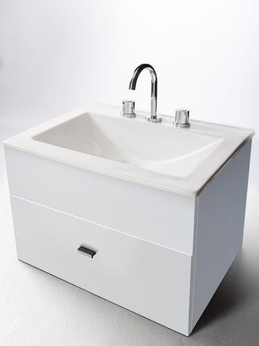 combo para baño simple espejo inodoro pringles vanitory 60cm