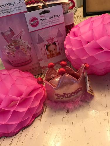 combo para decorar mesa cumpleaños- temática: princesas