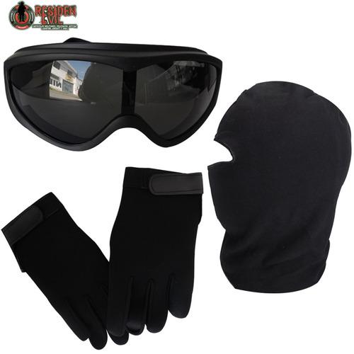 combo para moto antifaz ,guantes de neopreno y googles lqc