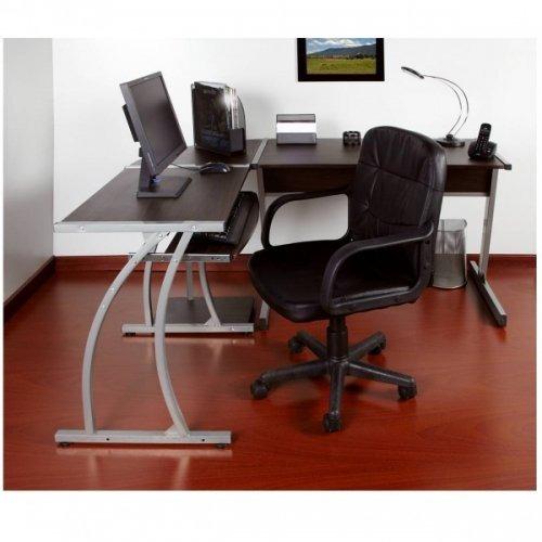 combo para oficina escritorio en l + silla gerente promo