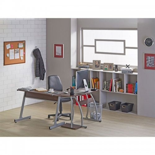 combo para oficina moderno escritoio en l + silla gerencial