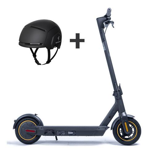 combo patineta eléctrica scooter ninebot segway max + casco