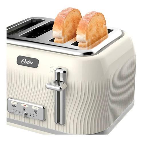 combo pava eléctrica oster modern 1,7l tostadora 4 panes