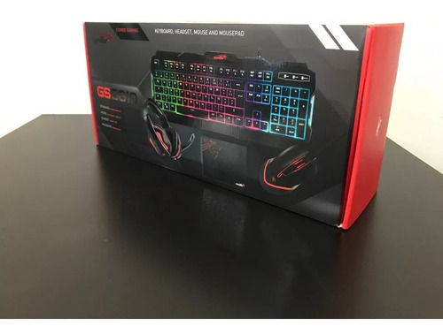 combo pc gamer sentey teclado rgb mouse rgb auricular + pad