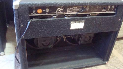 combo peavey classic 212 vt com foot 2 falantes de 12  troco
