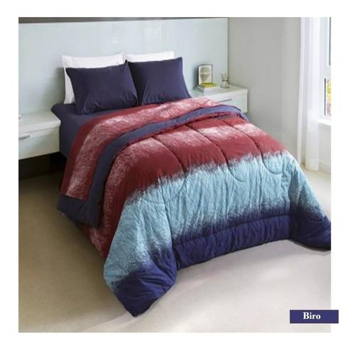 combo piero sommier sonno 140 + acolchado sabanas almohadas