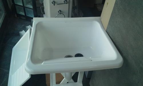 combo pileta lavadero plástico+sopapa+desagüe pvc 50 mm