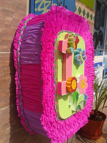 combo piñata, chupetero, caja regalo, cotillon de mariposas