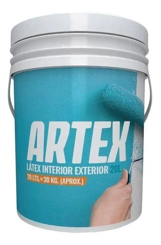 combo pintura latex 20l+enduido+fijador+rodillo+lija pintumm