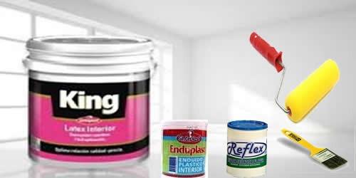 combo  pintura látex interior 10lts sinteplast rod+pinc