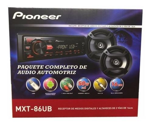 combo pioneer auto radio mxt-86ub + 2 parlantes 6' original