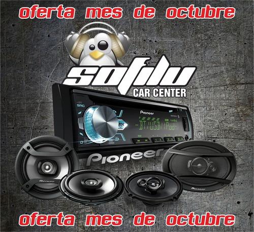 combo pioneer radio deh-x5 + parlantes ts-6966s + ts-1634r