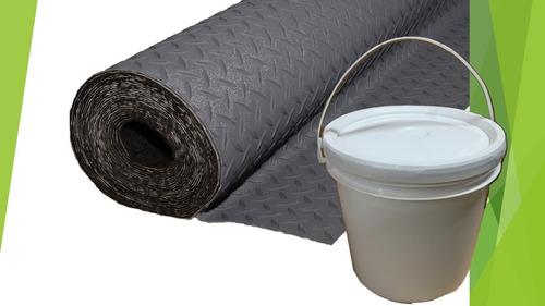 combo piso semilla gris  simil goma 15m2 + adhesivo!!