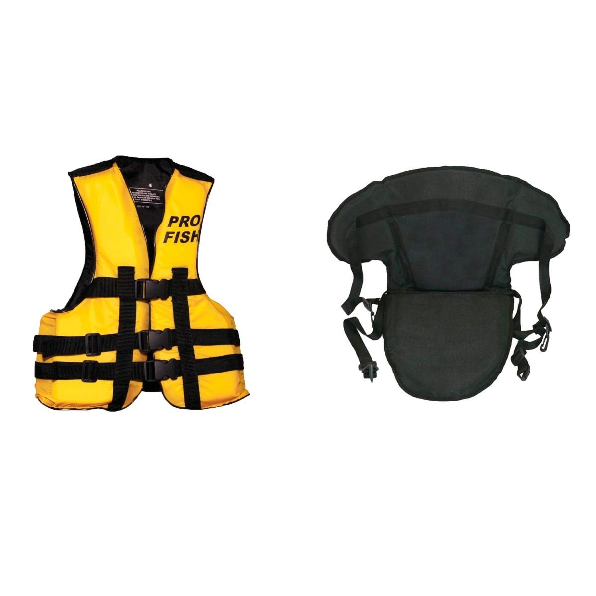 Combo P/kayak Chaleco Aquafloat 3 Tiras Adultos Asiento - $ 1.408,00 ...