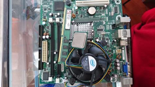 combo placa 775 ,procesador dual core ,cooler,memoria 1gb