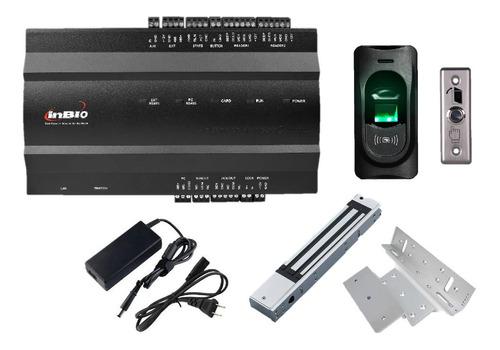 combo placa acceso biométrico 1 puerta zkteco® con 1 lector