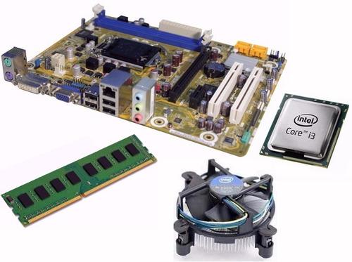 combo placa madre 1155 + core i3 c/fan + 4 gb - con garantia