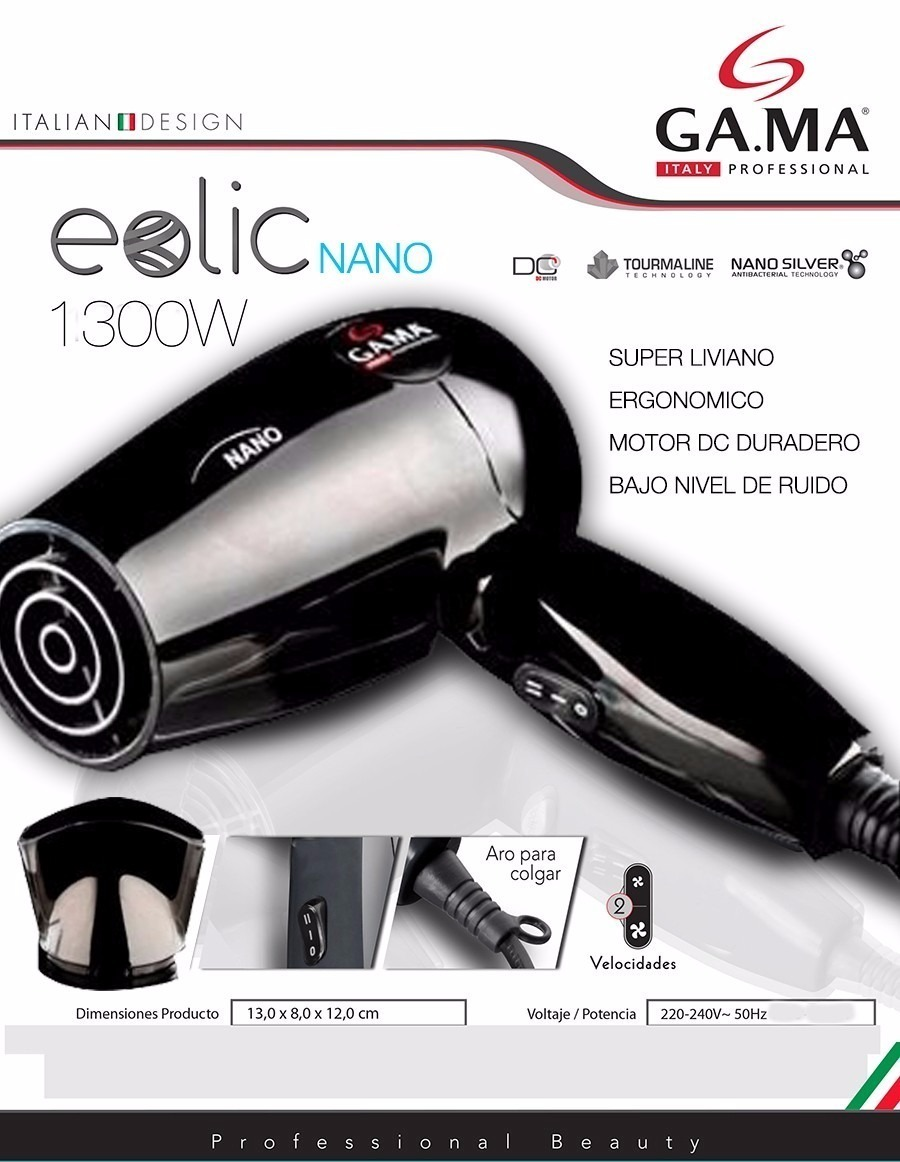 combo planchita gama mini titanium + secador pelo eolic nano. Cargando zoom. 5a45f75b7def